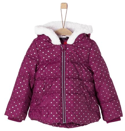 s.Oliver Lány téli kabát csillagokkal 134 rózsaszín