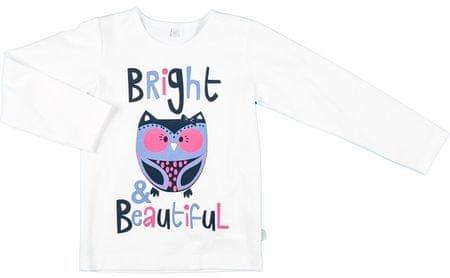 MMDadak Koszulka dziewczęca Sowa 62 biały