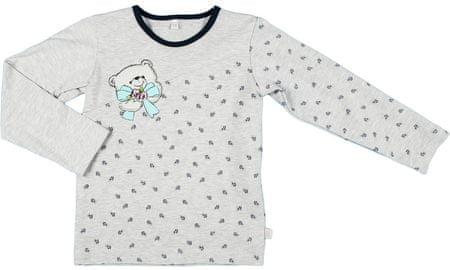 MMDadak dekliški pulover Medvedek, 62, siv