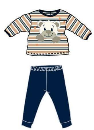Carodel chlapecké pyžamo Medvídek 56 modrá/oranžová