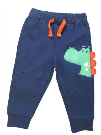 Carodel fiú nadrág dinoszaurusz motívummal 62 kék