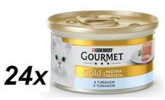 Gourmet Gold mokra karma dla kota paszteciki Tuńczyk - 24 x 85g
