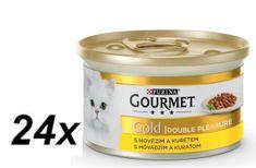 Gourmet Gold csirkés-marhahúsos macska konzerv 24 x 85 g