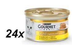 Gourmet Gold Savoury Cake z kurczakiem i marchewką 24 x 85g