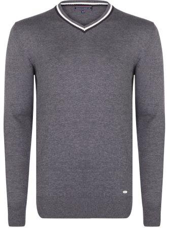 FELIX HARDY moški pulover, L, siv