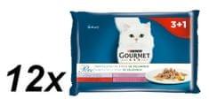 Gourmet Perle multipack 12(4x85g) - mini filetky ve šťávě se zeleninou 3+1 zdarma