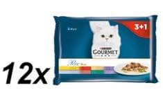 Gourmet Perle multipack 12(4x85g) - masové duo 3+1 zdarma
