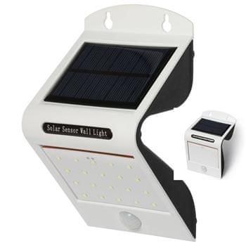 IQTECH Aql napkollektoros külső világítás, 20 + 2 LED- el, mozgásérzékelővel, vezeték nélkül, fehér színben
