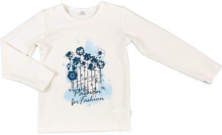 MMDadak T-shirt dziewczęcy Kwiaty 86 biały