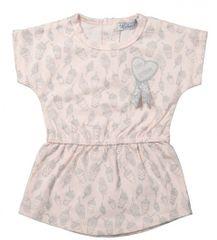 Dirkje Dívčí šaty se stříbrným potiskem - světle růžové