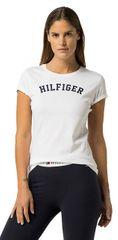 Tommy Hilfiger Dámske tričko s krátkym rukávom Cotton Icon ic Logo SS Tee Print UW0UW00091 -100 White