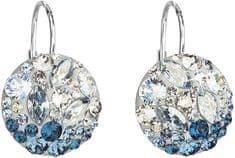 Evolution Group Stříbrné náušnice s krystaly 31176.3 Ice Blue stříbro 925/1000