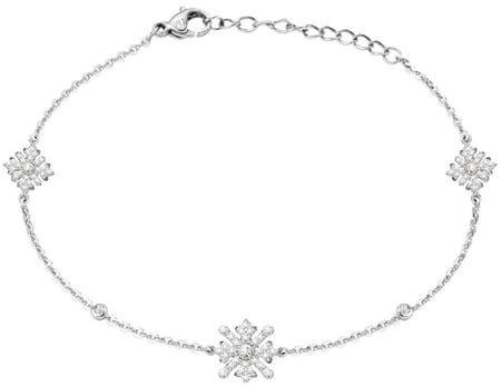 Morellato Srebrna zapestnica s snežinkami Pura SAHK11 srebro 925/1000