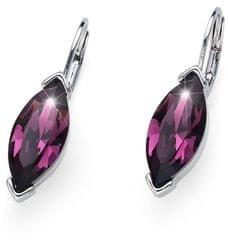 Oliver Weber Błyszczące Kolczyki z fioletowymi kryształami Szczyt 22728 204