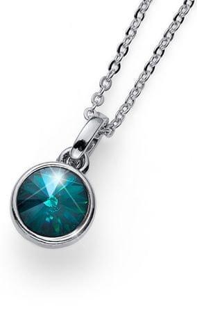 Oliver Weber Stylowy naszyjnik z zielonym kryształem Young 11924 205