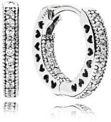 Pandora Kruhové náušnice s kryštálmi 296317CZ striebro 925/1000
