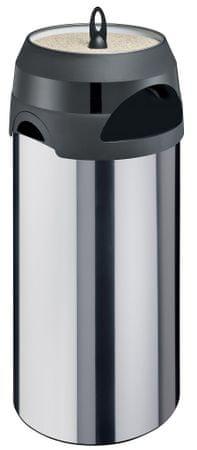 Meliconi koš za odpadke s pepelnikom, 60 L, nerjaveče jeklo
