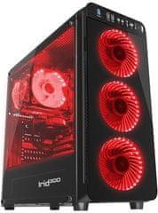 Genesis Gaming ohišje Irid 300, Midi Tower, USB 3.0, rdeče