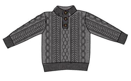 Carodel chlapecký svetr 116 šedá