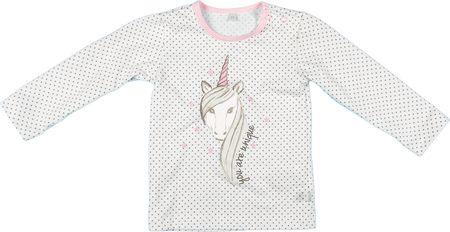 MMDadak dziewczęca koszulka Jednorożec 80 biały