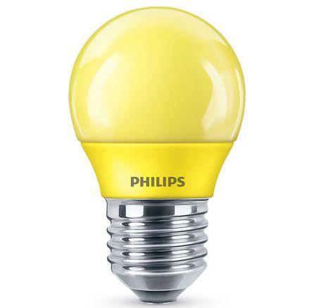 Philips kolorowa żarówka LED P45 E27 żółty 1SRT4