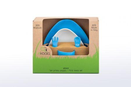 eKoala eKeat BIO plast jídelní sada kluk