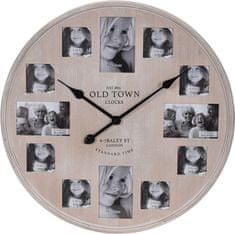 Koopman zegar ścienny, 60 cm, ramki na zdjęcia