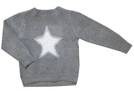 Carodel dívčí svetr s hvězdou 104 sivá
