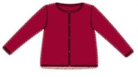 Carodel dívčí svetr 116 červená