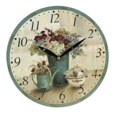 Koopman zidni sat, 28 cm, s motivom cvijeća 1