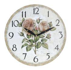 Koopman zegar ścienny 28 cm, kwiaty 2