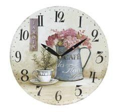 Koopman zegar ścienny 28 cm, kwiaty 3