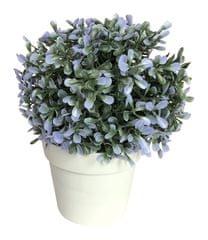 Koopman Doniczka dekoracyjna z kwiatem, 20 cm niebieski