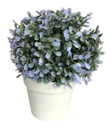 Koopman Dekorativní květina v květináči,20 cm modrá