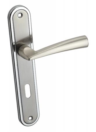 Infinity Line Bruno chrom/satina - klika ke dveřím - pro pokojový klíč