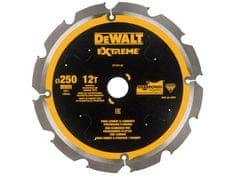 DeWalt list za krožno žago, 250/30,12 zob, za cement (DT1474)