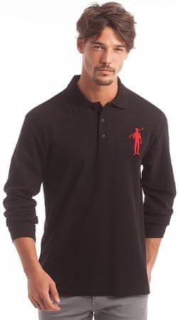 Polo Club C.H.A moška polo majica, M, črna