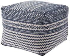 Koopman Taburet bavlna 45x35 cm, modrá