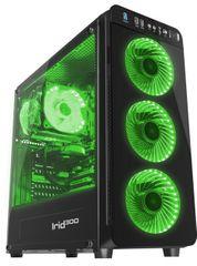 Genesis Gaming ohišje Irid 300, Midi Tower, USB 3.0, zeleno