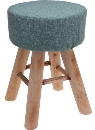 Koopman Taburet 30x40 cm, 4 dřev. nohy, zelená pepermint