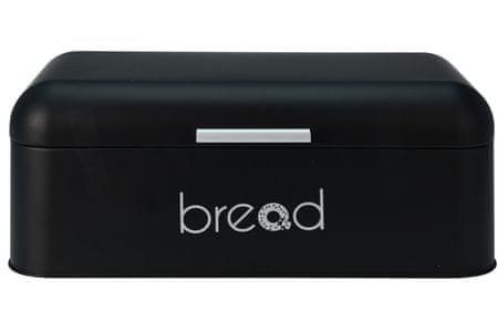 Marex Trade posoda za kruh, kovinska, mat črna