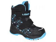 Loap Chlapecké zimní boty Chosee černo-modrá