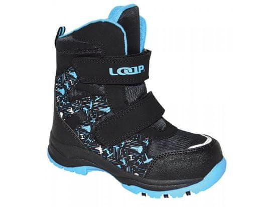 Loap Chlapecké zimní boty Chosee 22 černo-modrá