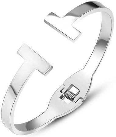 Troli Luxusos acél női karkötő