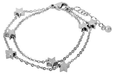 Troli Acél karkötő csillagokkal