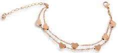 Troli Srčna zapestnica iz jekla, prevlečenega z rožnatim zlatom