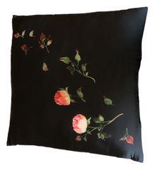 Koopman poduszka dekoracyjna 60 × 60 cm, czarne róże