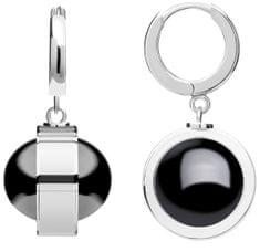 Preciosa Unikátní stříbrné náušnice Singularis Hematit 6117 48 stříbro 925/1000