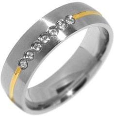 Silvego Zaręczynowy pierścień stalowy dla kobiet RRC2048 Paris-Z