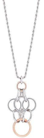 Morellato Jeklena dvobarvna ogrlica Essenza SAGX03